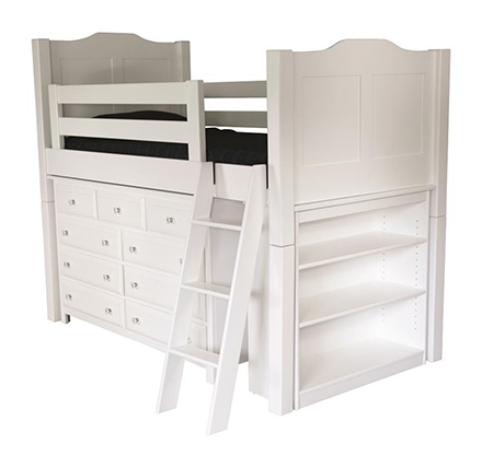 Amish Loft Bed with Steps