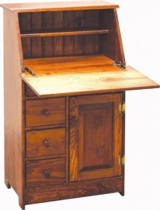 Amish Pine Secretary Desk-20