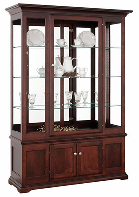 Amish Deluxe Side Light Curio Cabinet