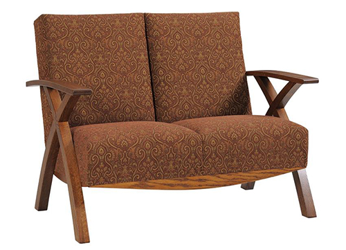 Amish Criss Cross Loveseat