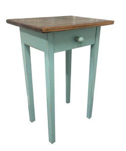 Amish Barnwood End Table with Drawer