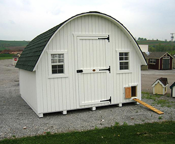 Amish Wood Round Roof Chicken Coop