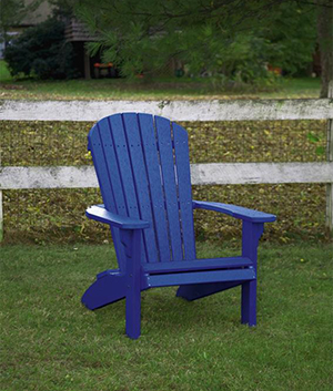 Amish Outdoor Recycled Polywood Fan-Back Garden Chair