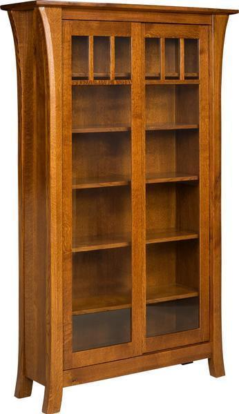 Amish Ensinada Bookcase with Sliding Doors