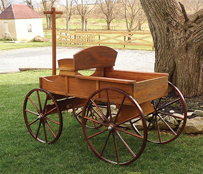 Amish Old Fashioned Buckboard Wagon