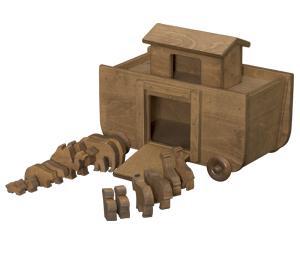 Noahs Ark and wooden animals