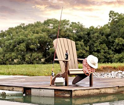 Amish Poly Fan Back Adirondack Chair