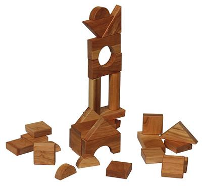 Amish Hardwood Oiled Building Blocks