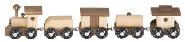Amish Mini Classic Ash and Walnut Train