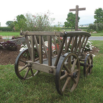 Amish Wooden Goat Cart