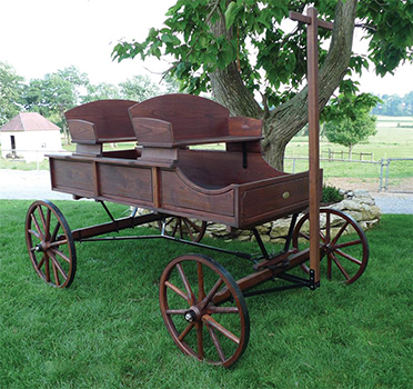 Amish Old-Fashioned Buckboard Wagon