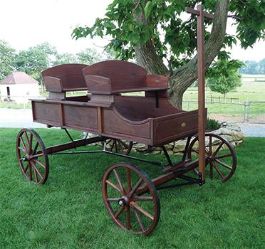 Amish Old-Fashioned Buckboard Wagon