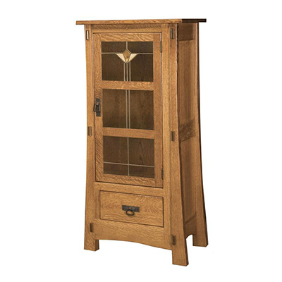 Amish Modesto One Door Jelly Cabinet