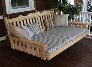 Amish Cedar Wood Royal English Swing Bed