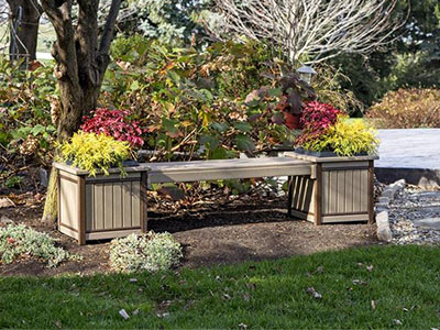 Amish Poly Planter Bench