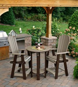 Amish Poly Wood Pub Table Bistro Set