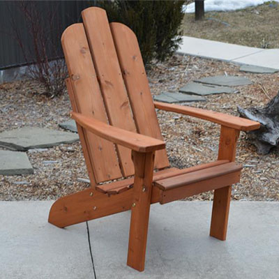 Amish Cedar Wood Mountain Adirondack Chair