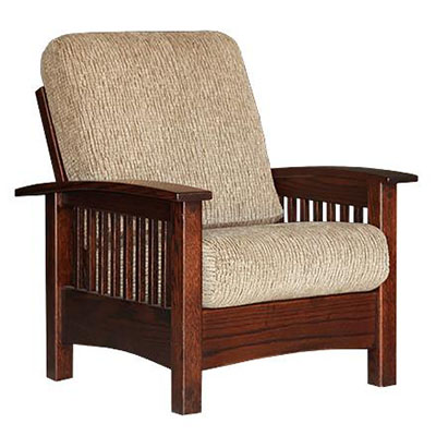 Amish Child's Upholstered Lounge Chair