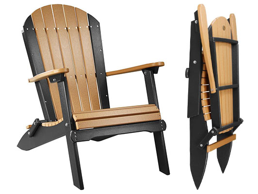 Amish LuxCraft Poly Folding Adirondack Chair