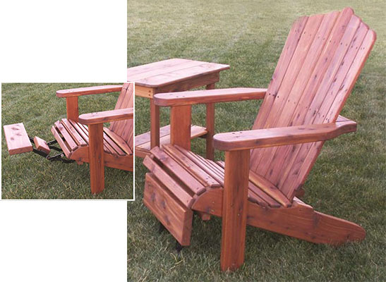 Amish Made Adirondack Chair with Optional Foot Rest