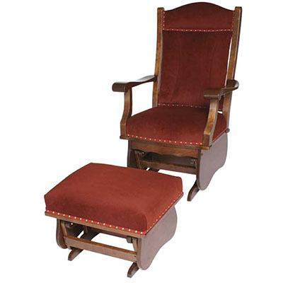 Amish Richmond Upholstered Glider with Optional Ottoman