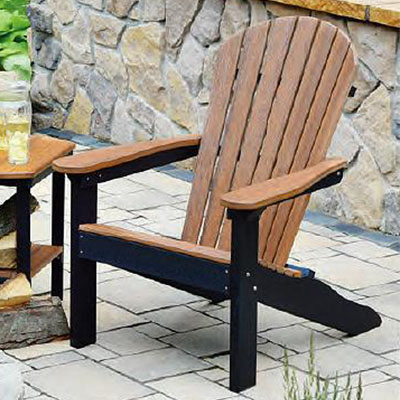 Berlin Gardens Natural Finish Comfo-Back Poly Adirondack