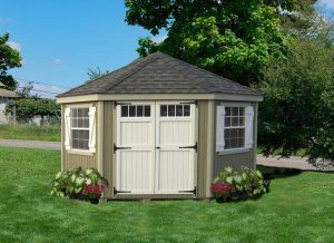 Amish WoodColonial Five Corner Shed