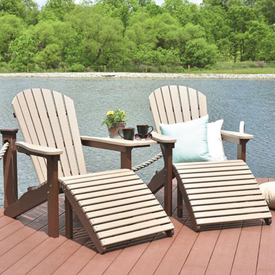 Amish Poly Comfo-Back Adirondack Chair