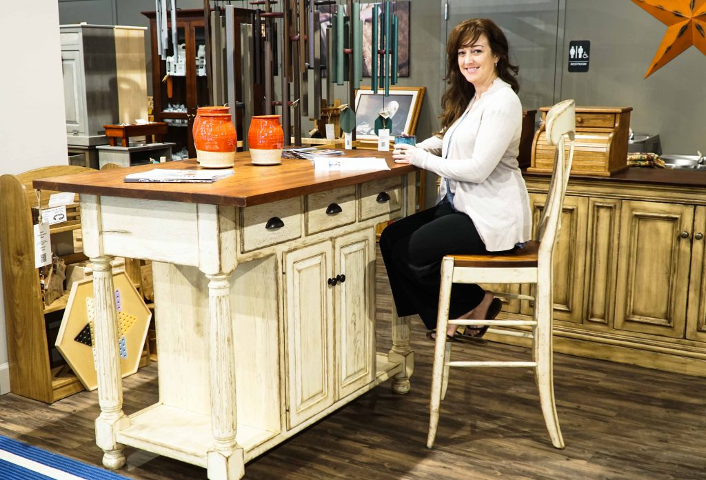 Amish French Country Kitchen Island