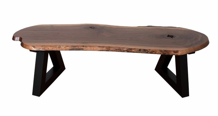 amish handcrafted live edge bench