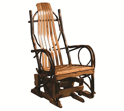 Amish Hickory Glider Rocker