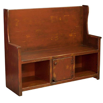 amish liberty pine bench