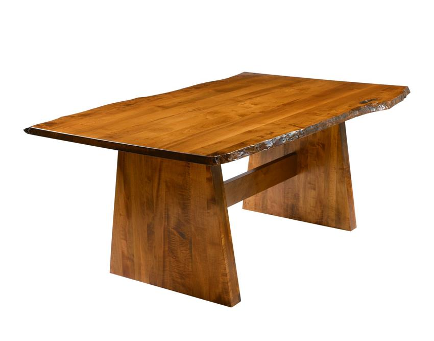 amish made bayport rustic table with live edge