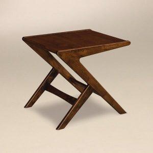 Amish Malaya Mid Century Modern End Table