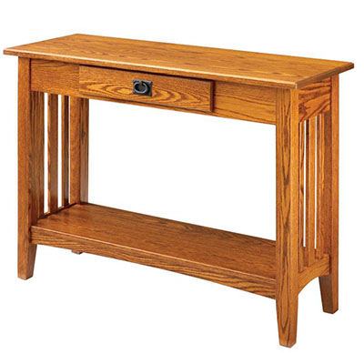 amish mission hall table