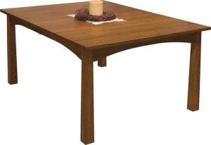 Amish Modesto Mission Leg Dining Table