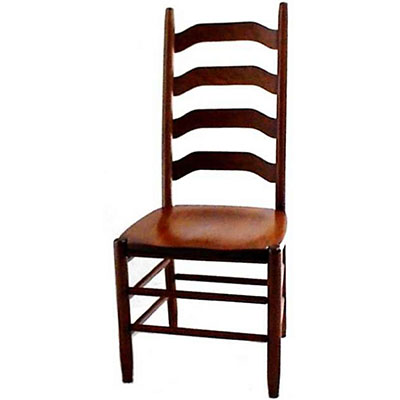amish ohio four step shaker ladderback chair