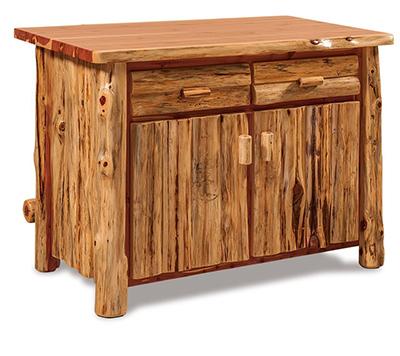 Amish Rustic Cedar Log Furniture Bar