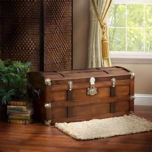 Amish Solid Maple Wood Steamer Trunk