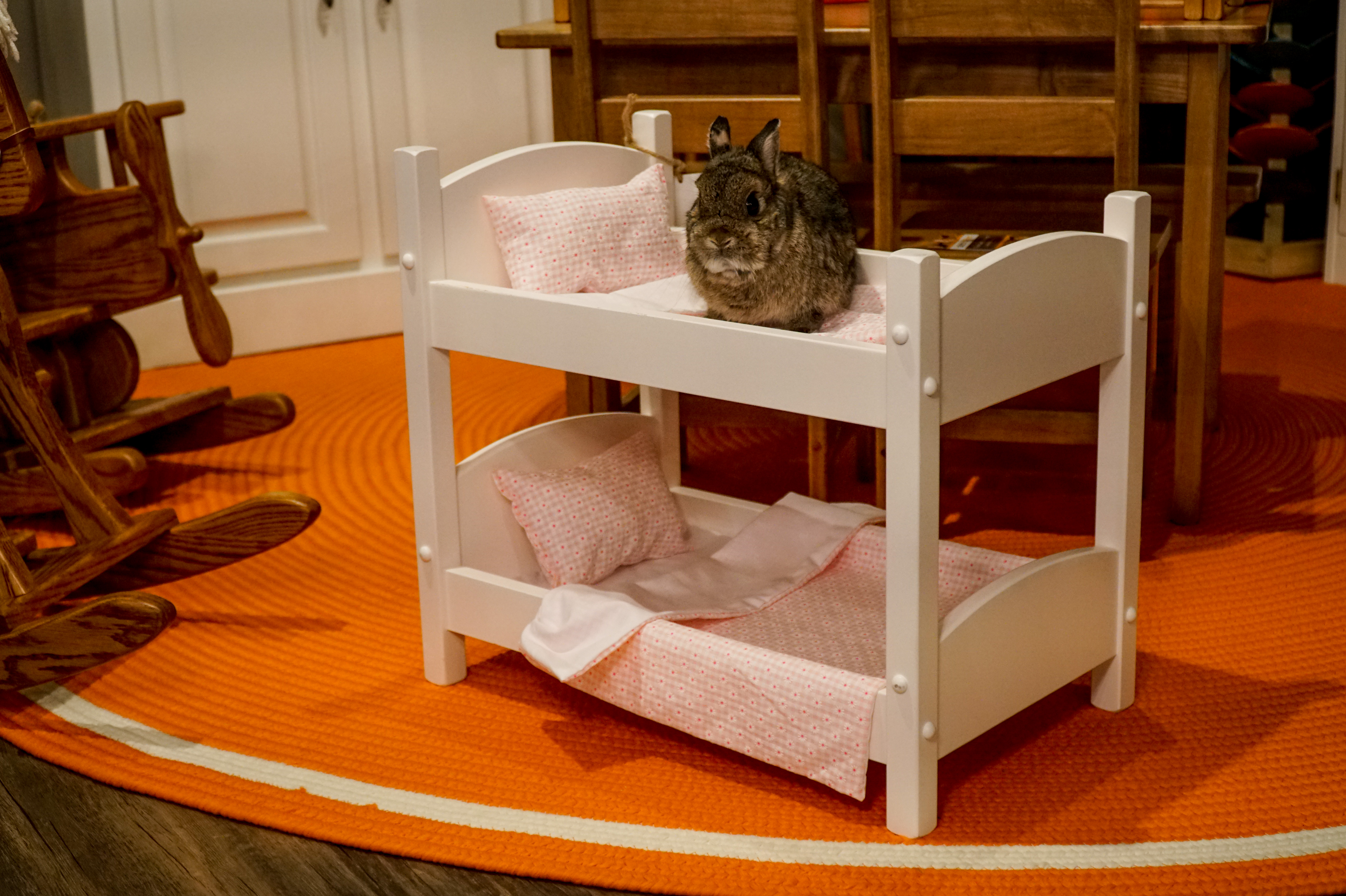 American Made Wooden Doll Bunk Bed