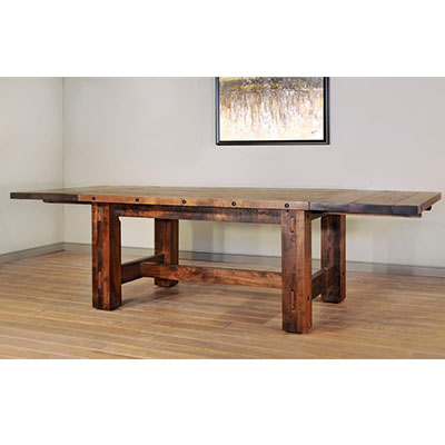 ruff sawn timber dining table