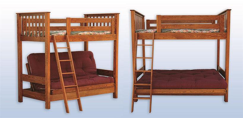 Amish Kids' Futon Loft Bed