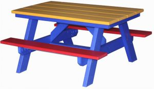 """Amish Poly Wood 40"""" Child's Picnic Table"""