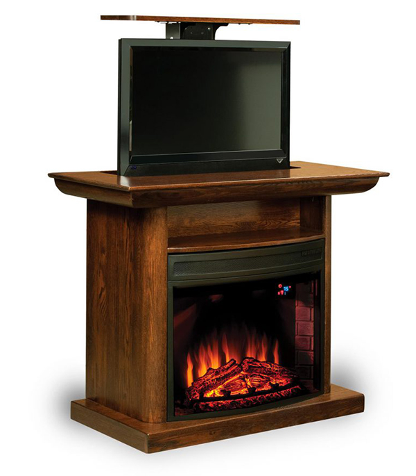 "Amish Made 46"" Electric Fireplace Entertainment Center"