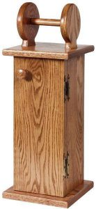 Amish Oak Wood Toilet Paper Holder Cabinet