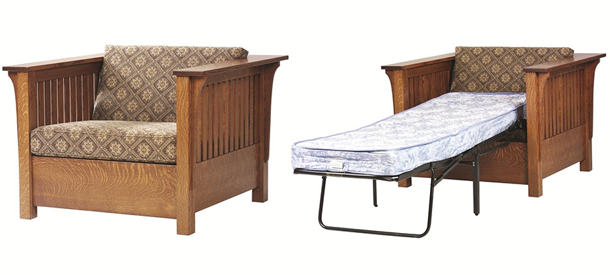 Amish Mission Prairie Chair Bed