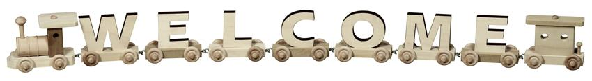 amish wooden toy name train