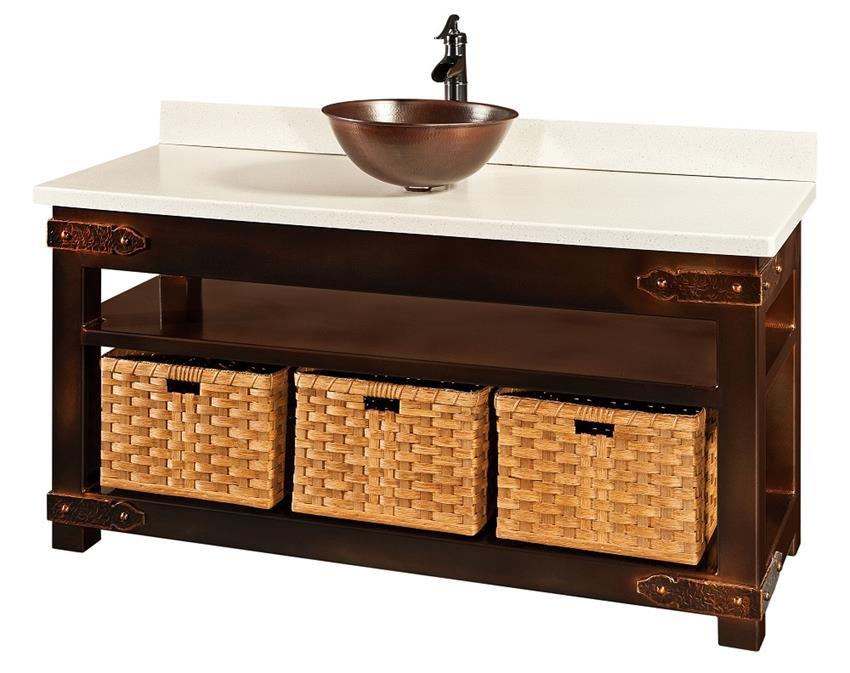 Regina Amish Custom Bathroom Vanity Cabinet Consoles