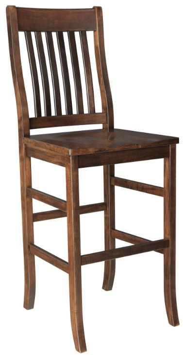 Amish Straight Lincoln Mission Bar Stool