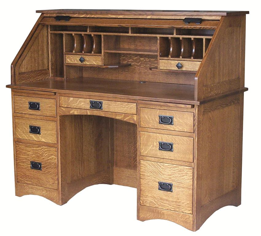 Amish Mission Rolltop Desk